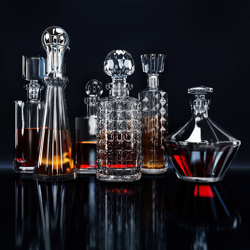 decanters bar 3d 3ds
