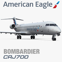 3d model of bombardier crj700 american eagle