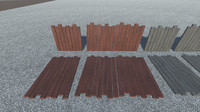 fencing ground panels 3d x