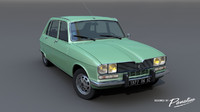 Renault 16 TX - 1977's 3D model car