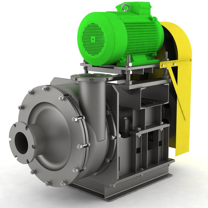 3d centrifugal pump model