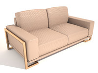 gianna leather loveseat peach 3ds