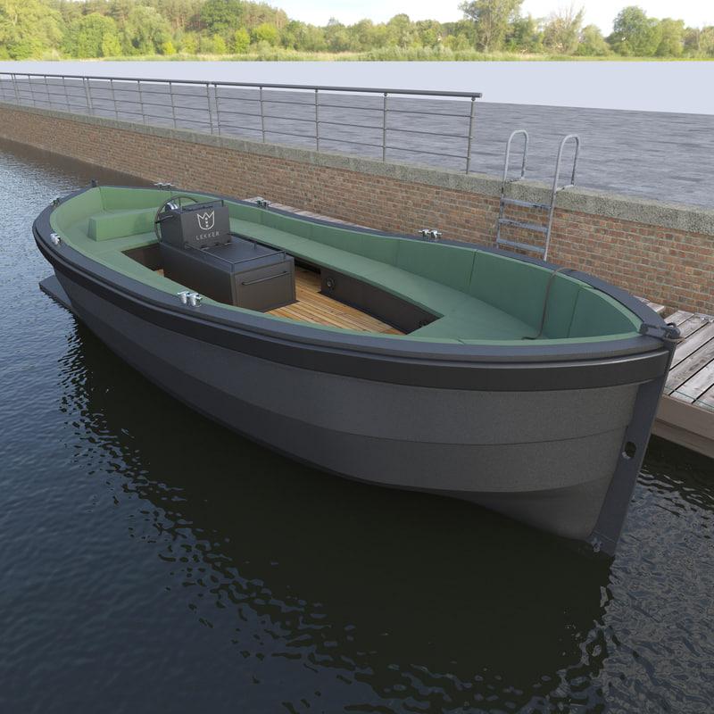 3d model motor boat lekker damsko