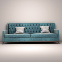 Capitone Back sofa with pillows