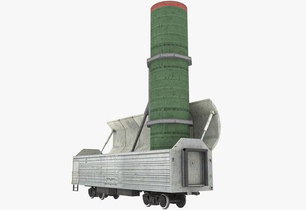 3d railway missile launch model
