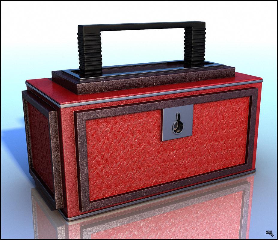 toolbox box cartoon 3d max