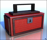 toolbox box cartoon 3d max