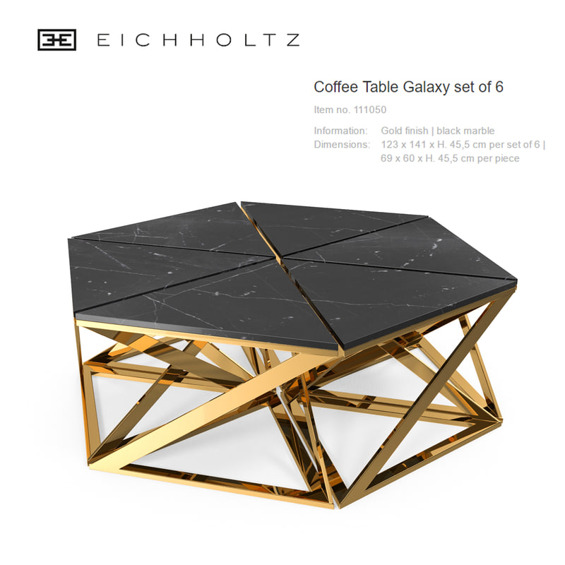 coffee table galaxy set 3d max