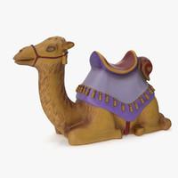 figurine camel 3d ma