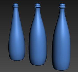 modelfood bottle glass 3d max