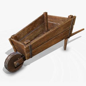 obj medieval wheelbarrow
