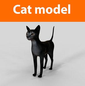 cats feline 3d obj