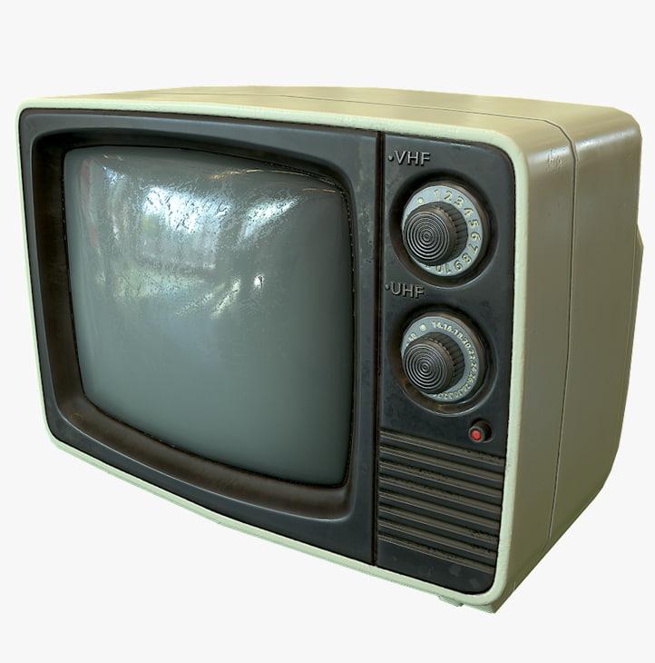 3d retro tv - ready