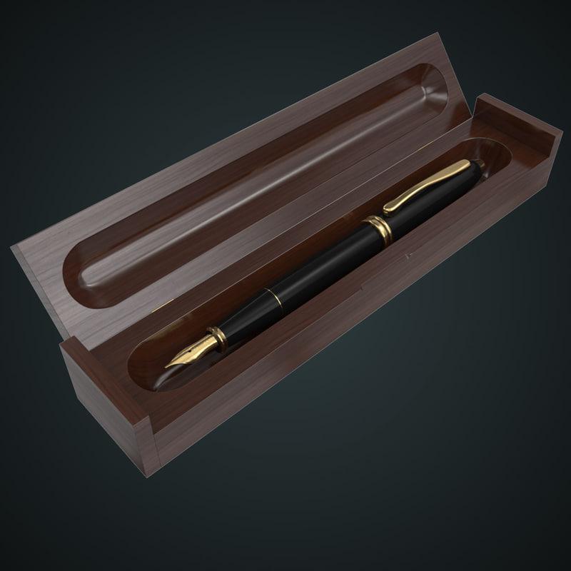 3d model cross fountain pen