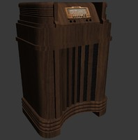 old philco radio 3d model