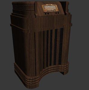 old philco radio 3d model