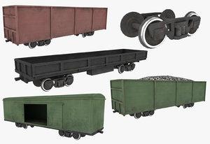 railway carriage 3d fbx