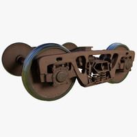 3d model of train wheels