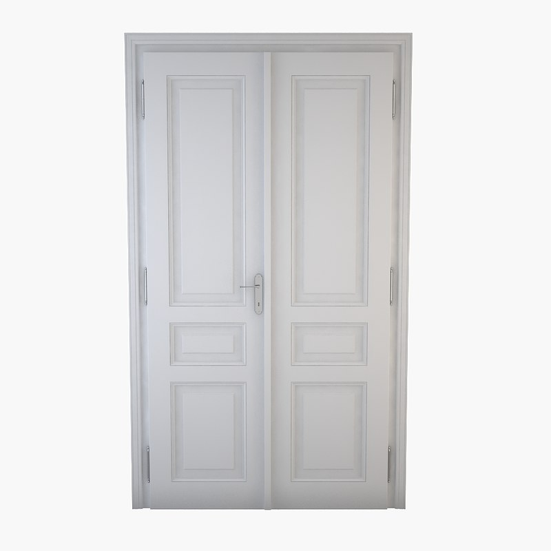 3d classical double door