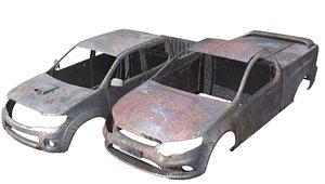 hilux falcon rusty vehicle 3d model