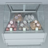 3d custom refrigerated showcase sausages