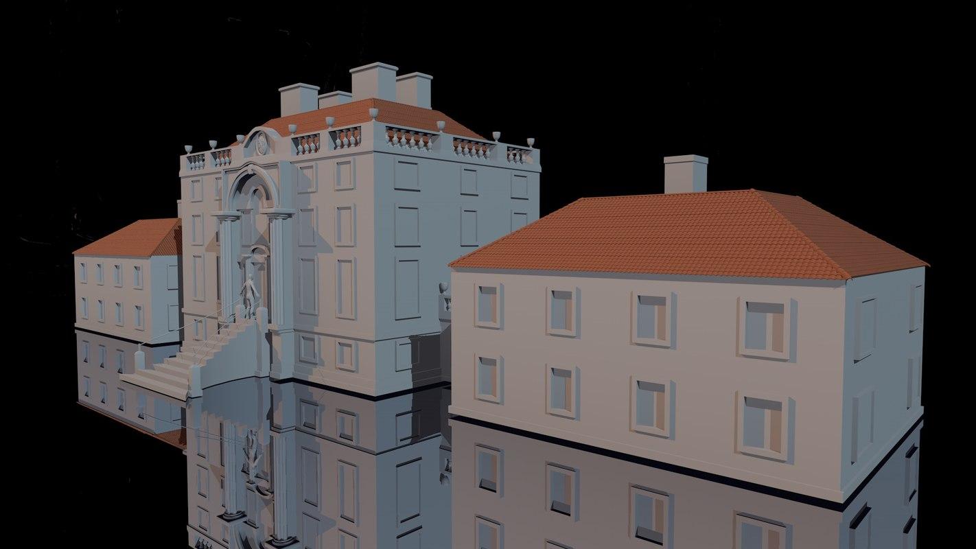 free mansion 3d model