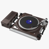 kenwood l-07d turntable 3d model