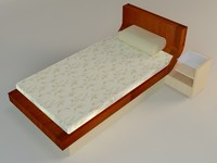 3d bed table model