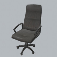 Office Chair Low Poly