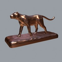 sculpture panther - print 3d model