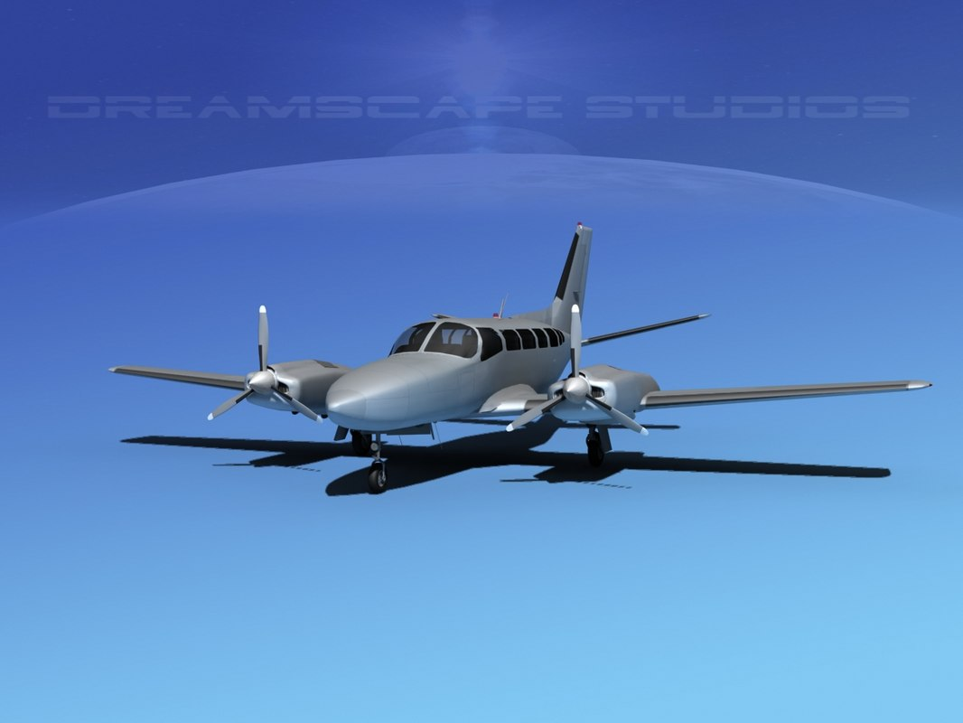 3d model of propellers cessna 404 titan