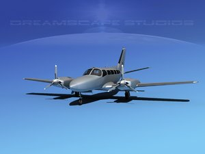 3d model of propellers cessna 404 titan