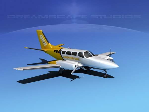 propellers cessna 404 titan 3d lwo