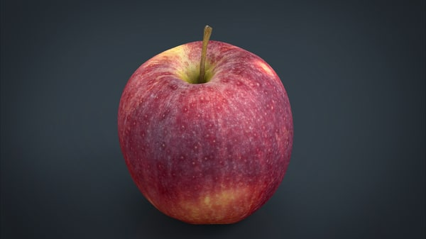 3d model realistic red apple
