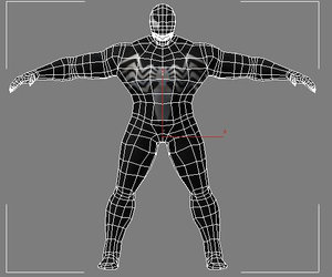 venom marvel spider-man 3d blend