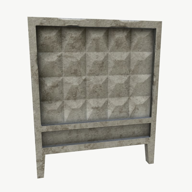 3ds old concrete wall