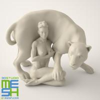 3d model sculpture amazon guardian