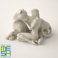 3d model of sculpture amazon regard