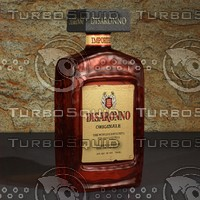 photorealistic disaronno italian liqueur 3d model
