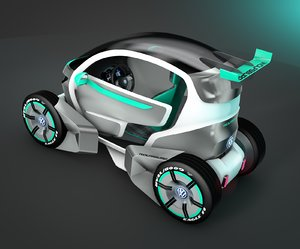 c4d electric car concept