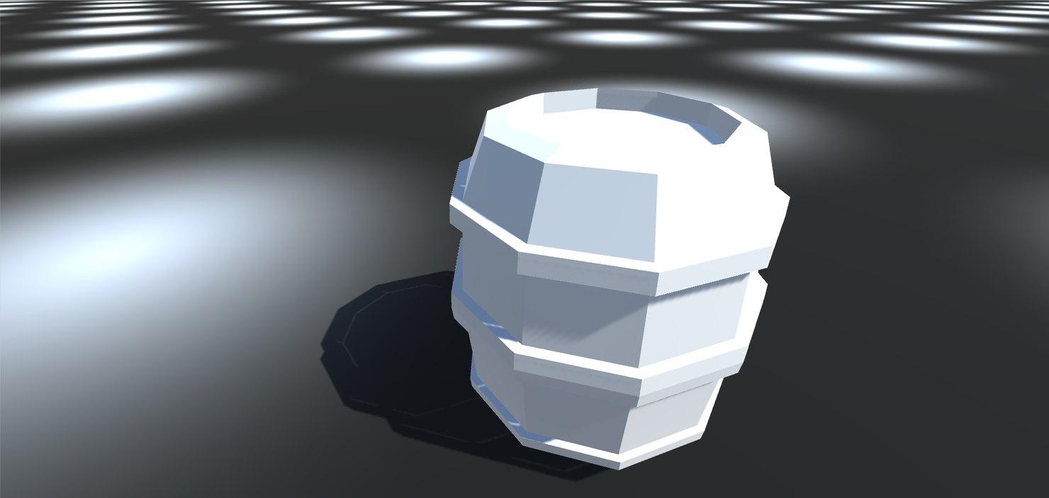 3d model barrel low-poly