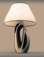3d model modern pepper table lamp