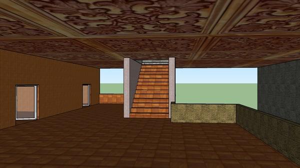 3d environment fps door model