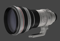 canon 400mm camera lens 3d c4d