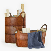3d basket leather storage