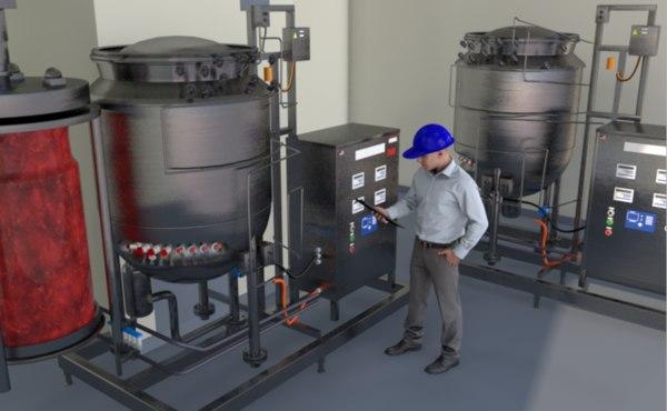3d model bioreactor scientist lab