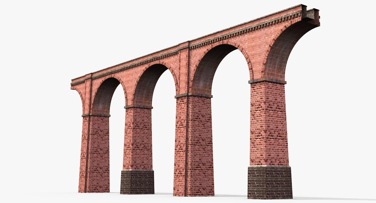 old aqueduct 3d max