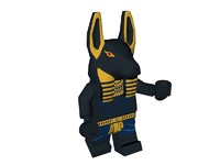LEGO Anubis Figure (Low Poly)