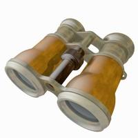 binoculars toon 3d max