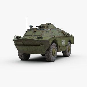 soviet brdm 2 3d model